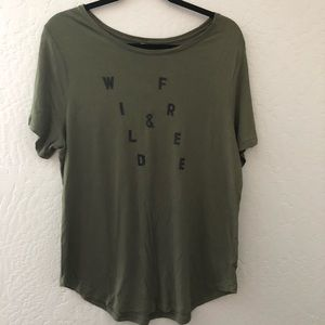 Old Navy Graphic Olive Green Tee